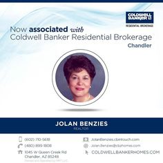 Please help us welcome Jolan Benzies who recently associated with Coldwell Banker Residential Brokerage at our Chandler office! Congratulations Jolan. #ColdwellBankerArizona
