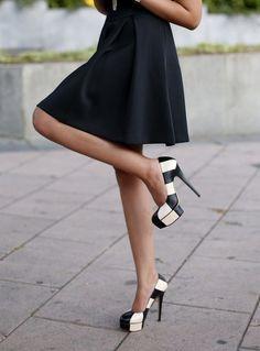 Black & White Blocked Stilettos