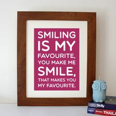 elf 'smiling' film quote print by hope and love | notonthehighstreet.com