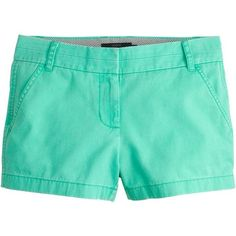 """J.Crew 3"""" Chino Short ($47) ❤ liked on Polyvore"""