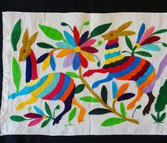otomi textile multi-colored