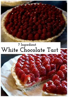 White Chocolate Fruit Tart!  Easy to make, and the perfect desert!