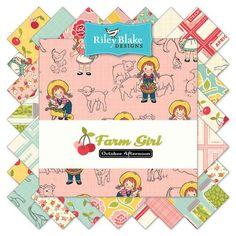 Farm Girl Fat Quarter Bundle 21 Pcs. by October Afternoon for Riley Blake