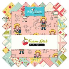 Farm Girl Fat Quarter Bundle 21 Pcs. by October Afternoon for Riley Blake