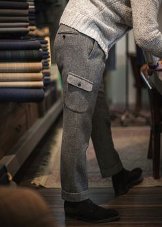 B&Tailor bespoke Tweed Cargo Trousers