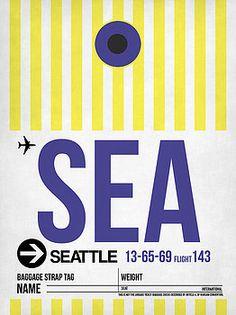 Naxart Studio - Seattle Airport Poster 3