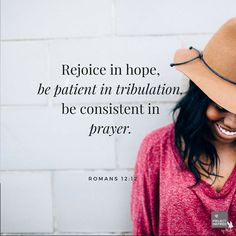 In tough times like these, God calls on us to be patient and prayerful.