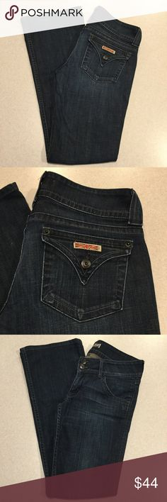 "Hudson Jeans 27X32 Signature Bootcut In Zod Hudson women's jeans Signature Bootcut in Zod Size 27 32 inch professionally hemmed inseam, 16"" across waist, 8"" rise Stretchy denim Perfect preowned condition, no flaws. Retailed for $198.00  All of my items come from a smoke free, pet free home and are authenticity guaranteed! Please ask any questions and reasonable offers are always welcome. 8 1/28 Hudson Jeans Jeans Boot Cut"