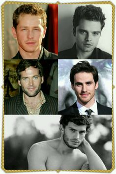 Prince charming The Mad Hatter Pinnochio Captain Hook The Huntsman