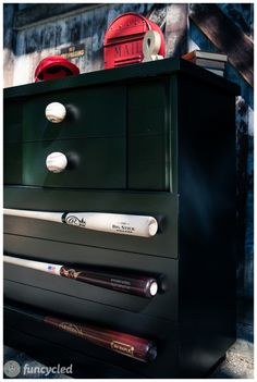 How to make your own baseball hardware for furniture. www.funcycled.com