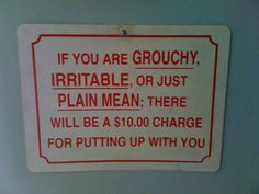 Introducing The Grouchy Surcharge