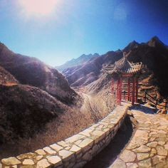 Follow the path to a temple in Cuandixia village in #China.    Photo courtesy of sallies on Instagram.