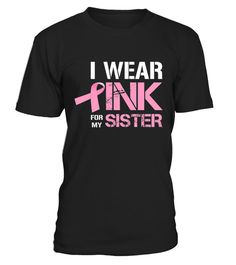 I Wear Pink For My Wife Breast Cancer Awareness Shirt #breastcancerinformation