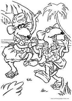 Fraggle Rock Coloring Pages  Muppet Central Forum  Crafts with