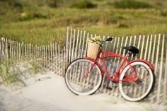 Naar het strand fietsen