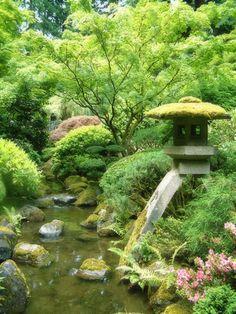 アメリカはポートランド、ワシントン公園内にある日本庭園(Japanese Garden