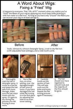How to fix a fried wig