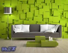3d decorative wall panels and covering, Modern 3d wall panels, green wall for living room