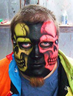Cool Face Painting Halloween Costumes
