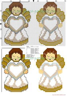 Thun Angel free cross stitch pattern 70x48