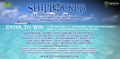 UNLEASH YOUR BEAST AT SEA WITH MONSTER ENERGY AND SHIPROCKED CRUISE! Enter for your chance to win a trip for 2 to ShipRocked Cruse from Monster Energy! Rock the high seas with Korn, Five Finger Death Punch and lots more!