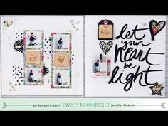 ▶ Scrap Your Stash: Wood Cards with Jen Kinkade (Two Peas in a Bucket) - YouTube