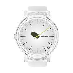 TicwatchE 1.4inch 400*400 300mAh IP67 Heart Rate GPS Smart Watch