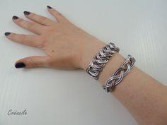 Bracelet aluminium argenté gris anthracite par Creacile sur Etsy