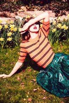 """Duchess Dior: """"Summer Girl"""" Lindsey Wixson by Ellen von Unwerth for Vogue Russia July 2015"""