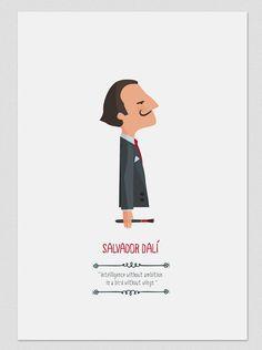 Salvador Dalí.  by Tutticonfetti