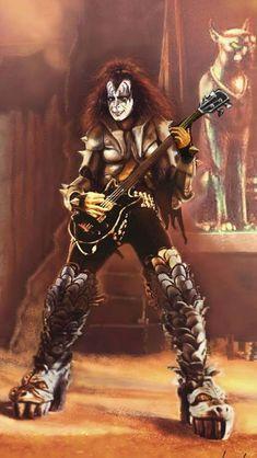 Gene Rock Band Posters, Rock Poster, Paul Stanley, Best Rock Bands, Cool Bands, Eric Singer, Banda Kiss, Kiss Group, Gene Simmons Kiss