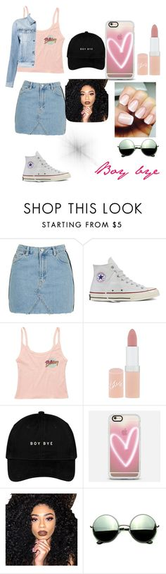 """Summer almost over😒🌞"" by lecee ❤ liked on Polyvore featuring Topshop, Converse, Billabong, Rimmel, Casetify, Kylie Cosmetics, Revo and 3x1"