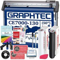 "Graphtec CE7000-130 PLUS - 50"" Professional Bundle, BONUS Software Heat Transfer Vinyl, Transfer Tape, Swing Design, Siser Easyweed, Oracal Vinyl, Vinyl Cutter, Make Design, Tool Storage, Print And Cut"