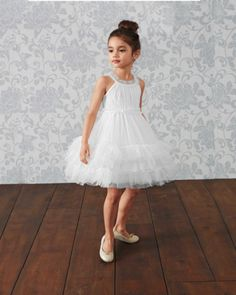 Girls Stardust Dress - The twirl factor on this party dress is amazing. It's perfect for girly-girls who dream of ballerinas and fairies. Machine Wash. Made in USA.