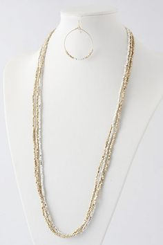 Sade Shimmer Necklace Set on Emma Stine Limited $49