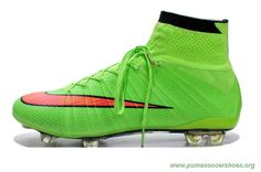 on sale b801c d0f09 Soccer City Nike Mercurial Superfly X FG GREEN RED ACC Mens Botas, Zapatos  De