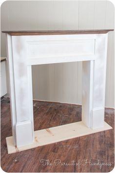 Diy Faux Fireplace -27