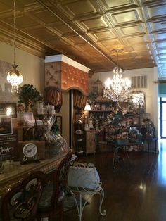 French inspired Chocolate Shop, love the color scheme & decor