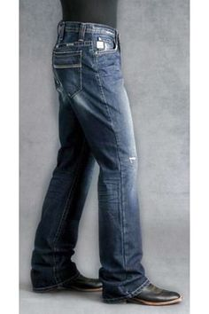 2a5bc88c CINCH JEANS MENS DALLY Western Rodeo Cowboy Boot Cut Med Stonewash NWT 34 x  36 only