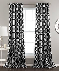 Look at this #zulilyfind! Black Bret Curtain Panel - Set of Two #zulilyfinds