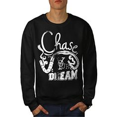 Chase Your Dream Bike Motivation Men NEW M Sweatshirt | Wellcoda -- Be sure to check out this awesome product.