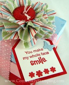 Love the flower, love the saying, love the boxes! by Connie Collins.