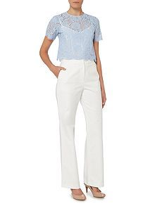ef9236461e Classic wide leg trouser with flare Trousers Women
