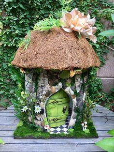 Fairy Summer Cottage, 1:12 scale Fairy Dollhouse, custom fairy house by TheBraceletHouse on Etsy https://www.etsy.com/listing/544709519/fairy-summer-cottage-112-scale-fairy