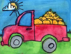 Art Projects for Kids: Pickup Truck Painting