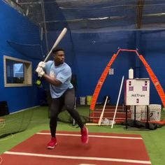 HITTERS: Notice how head stays stacked over his back hip all of the way through contact. This is how you stay behind the baseball and create backspin. Baseball Videos, Train System, World 1, Basketball Court, Drills, Sports, Connect, Hacks, Heel