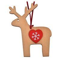 Χριστουγεννιάτικο Στολίδι Ξύλινο 10 εκ < Στολισμός Δέντρου