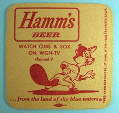 wgn chicago images | Details about HAMM'S BEER WGN-TV CHICAGO CUBS WHITE SOX COASTER 1960s