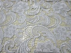 "Lily 2.25/"" Ivory White Venice Lace Bridal Wedding DIY Trim Grape Vine By Yard"