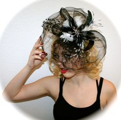 Spider Hair Fascinator! How perfect for Halloween! One of a kind! Handmade by Claire Jane